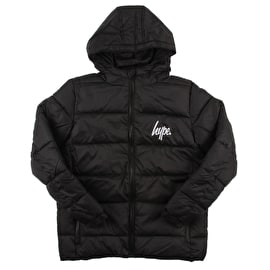 Hype Script Kids Puffer Jacket - Black