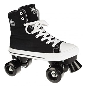 Rookie Canvas Quad Rollerskates- Black UK Size 2 (B-Stock)