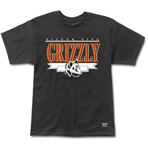 Grizzly Silver Tip Cup T-Shirt - Black