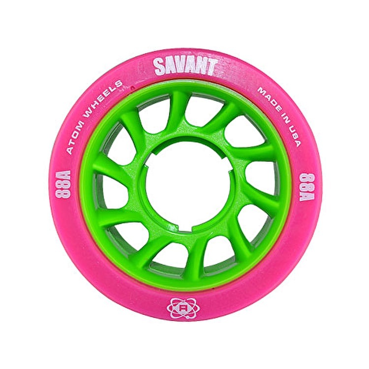 Atom Savant Roller Derby Wheels - Pink 59mm 88A