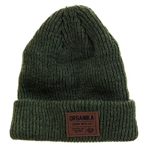 Organika Badge Beanie - Olive Heather