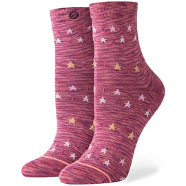 Stance Morning Star Womens Socks - Maroon