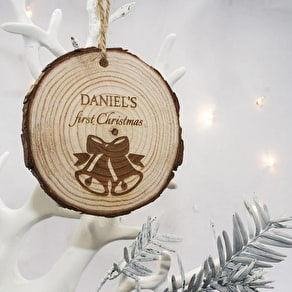 'Babies First Christmas' Wooden Decoration