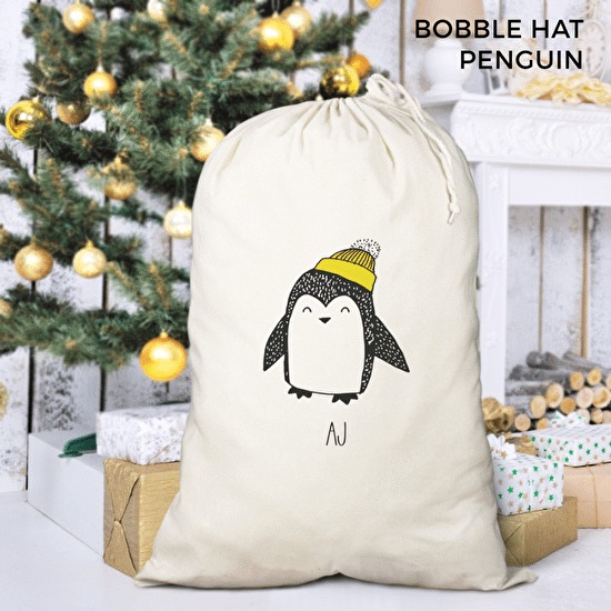 Boys Penguin Festive Sack
