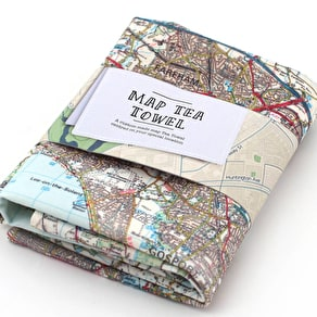 Personalised Cotton Map Tea Towel