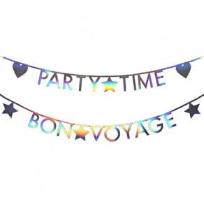 Alphabet Oil Slick Style Bunting