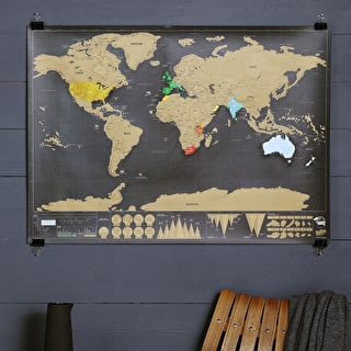 Deluxe Scratch World Map