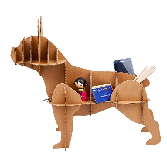 Cardboard Dog Tidy 'French Bulldog '