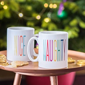 Personalised Naughty Or Nice Christmas Mug