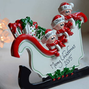 'Stand Up 'Sleigh Christmas Decoration