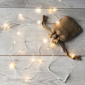 Micro Fairy LED Lights With Jute Bag