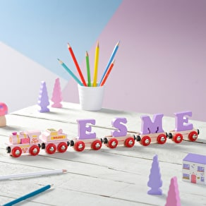 Personalised Pink And Lilac Name Train