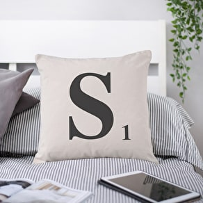 Letter Tile Cushion Cover