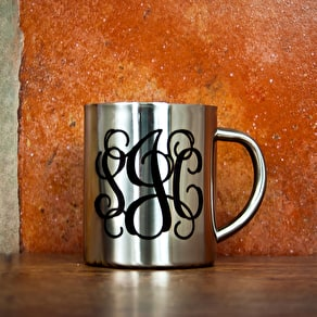 Set Of Mr And Mrs Typographic Mugs