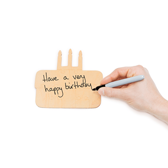 Wooden Birthday Cake Jigsaw