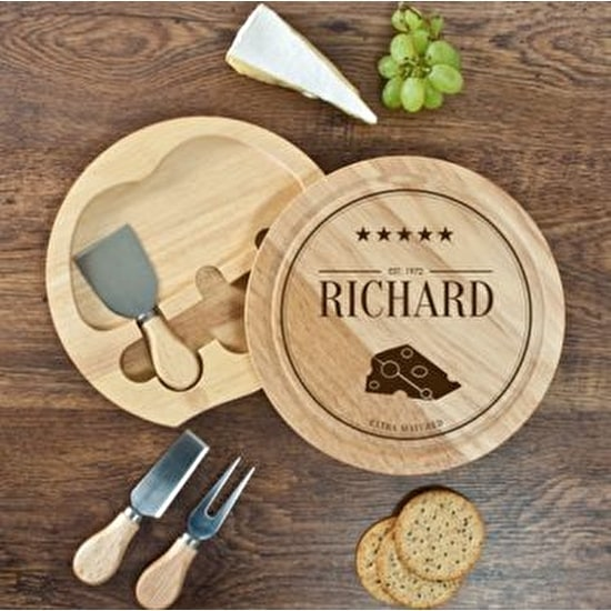 Personalised 'Extra Mature' Cheese Board Set