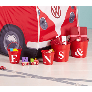 Letter Style Red Buckets