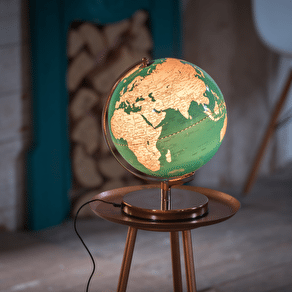 Blue And Copper Illuminated Globe