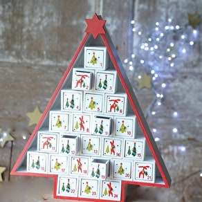 Wooden Advent Calendar Tree