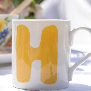 Hand Painted Real Gold Porcelain Mug