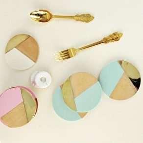 Geometric And Brass Coaster