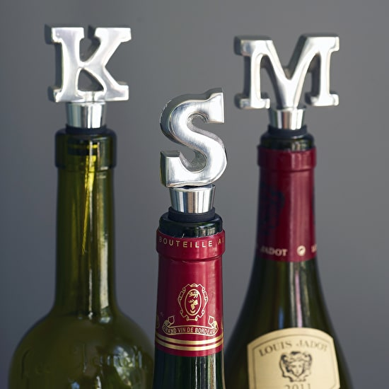 Alphabet Wine Bottle Stopper