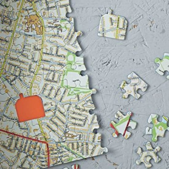Luxury Boxed Our House Map Jigsaw