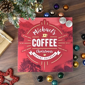 Personalised Coffee Advent Calendar Box