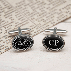 I Bloody Love My Bicycle Personalised Cufflinks