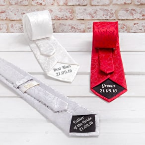 Personalised Secret Message Wedding Tie