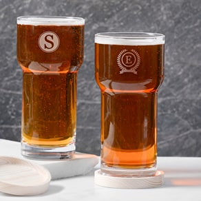 Monogram LSA Pint Glass And Coaster