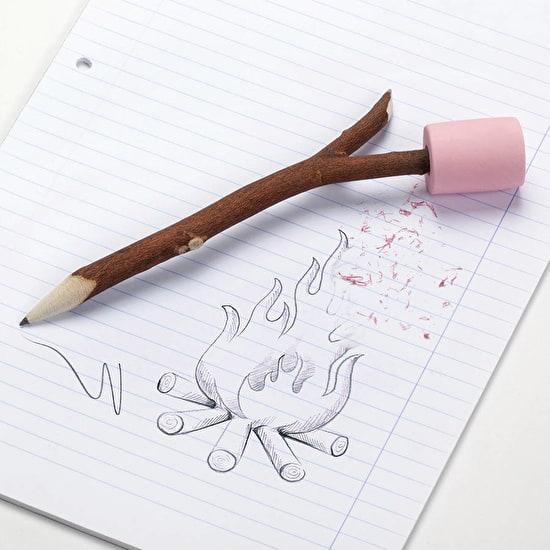 Marshmallow Pencil And Eraser