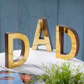 A Set Of Brass DadLetters