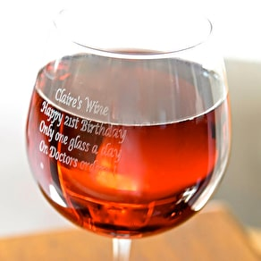 Personalised Giant Wine Glass