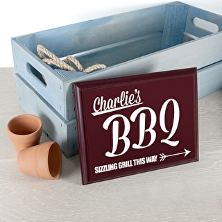 Personalised Bbq This Way Garden Plaque