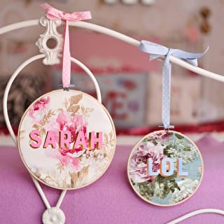 Personalised Flower Hoops