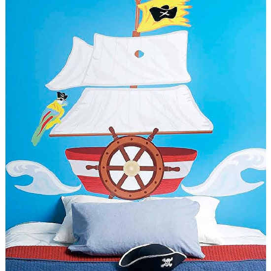 Pirate Ship Headboard Wall Sticker