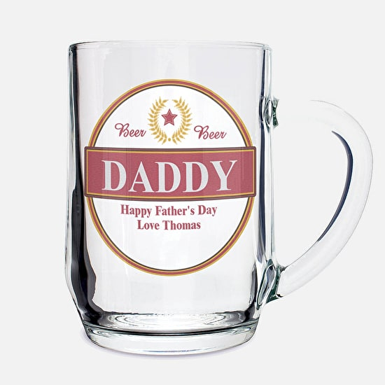 Personalised ' Dad' Beer Tankard