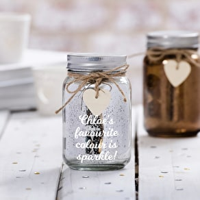 Personalised LED Jam Jar