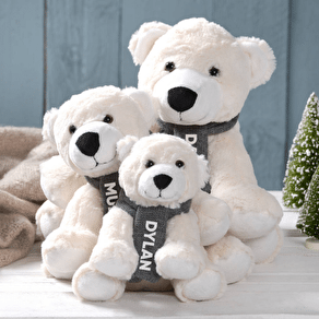 Personalised Christmas Polar Bear Family