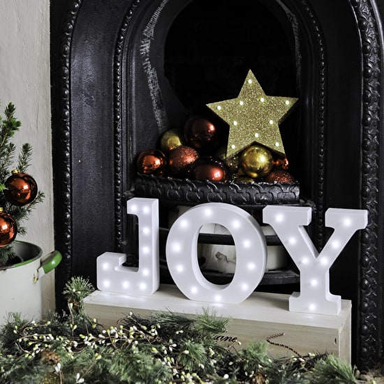 White Light Up Christmas Letters