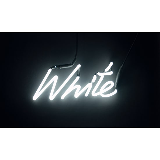 White Neon Word Light