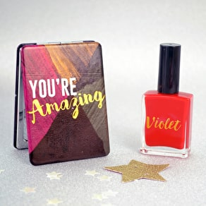 You're Amazing Mirror With Personalised Nail Polish