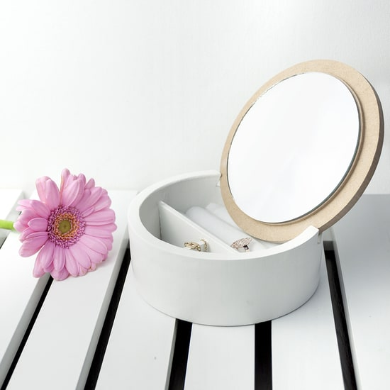 Geometric Jewellery Box With Mirror