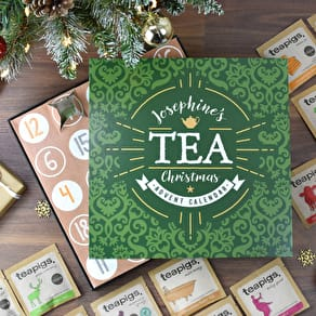 Personalised Tea Advent Calendar Box