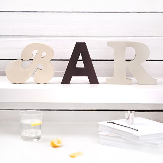 Freestanding ' Bar ' Wooden Letters