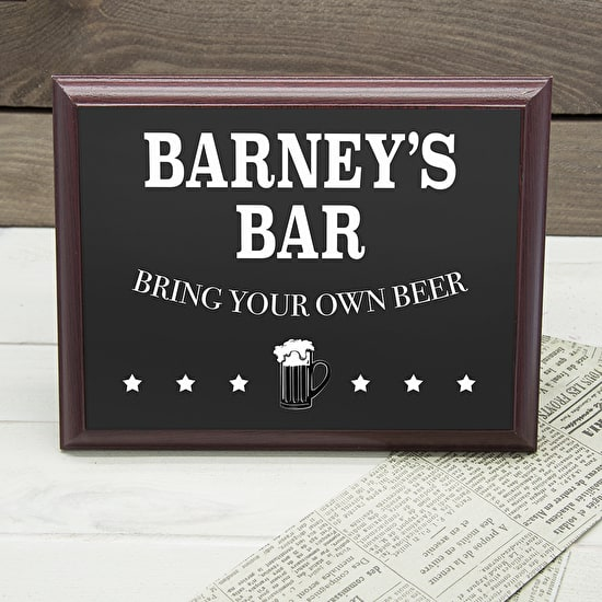 Personalised 'My Bar' Plaque