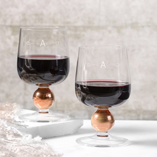 LSA Monogrammed Copper Wine Glass