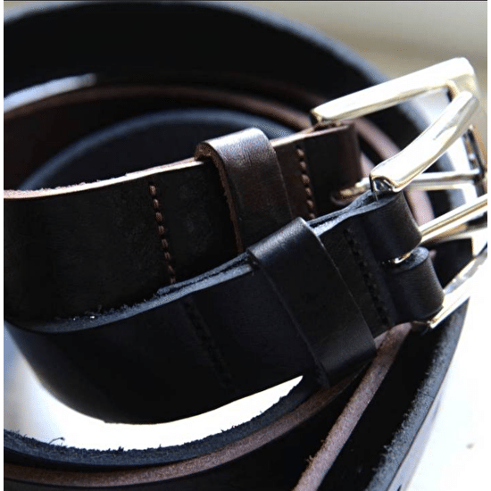 Luxury Monogramed Leather Belt