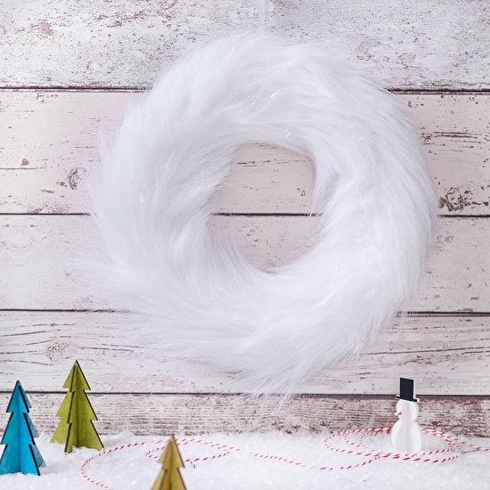 White Faux Fur Wreath